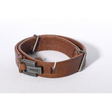 Fossil braccialetto in cuoio
