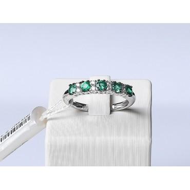 Veretta D&D in Oro con Smeraldi e Diamanti