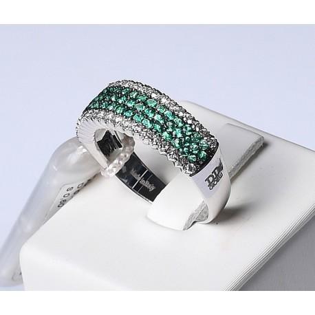 Anello D&D in Oro con Smeraldi e Diamanti