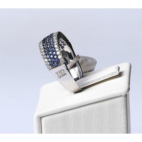Anello D&D in oro con Zaffiri e Diamanti